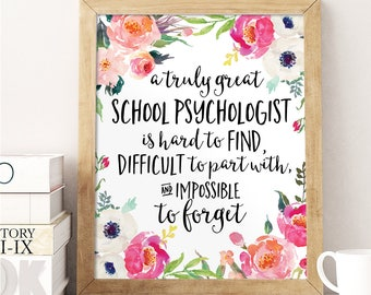 School Psychologist Gift, A truly great School Psychologist is hard to find, Office Decor, Office Gift, School Psychologist, Personalized