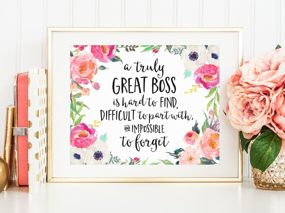 c66cbde5e84 Office Decor A truly great boss is hard to find Boss Gift | Etsy