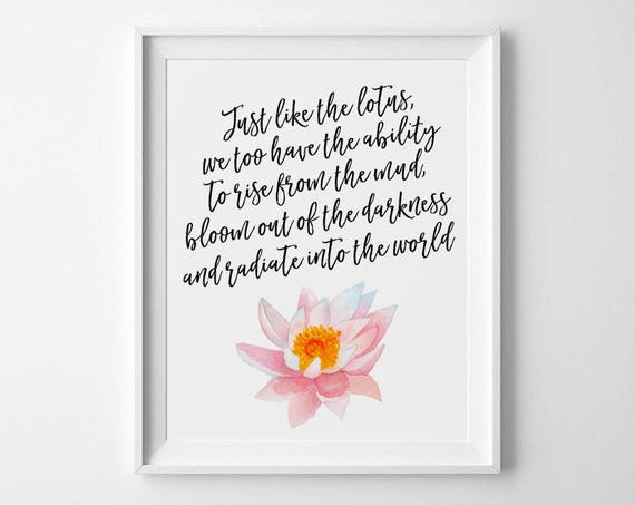Buddha quote just like a lotus we too have the ability to etsy image 0 mightylinksfo