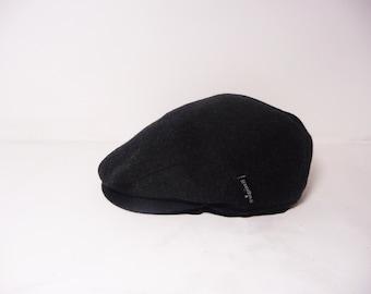 Wigens Melton Wool Twill Black Men s Flat Cap wit Hears  size 59  Made In  Sweden  Winter Newsboy Cap 46172f5733e9