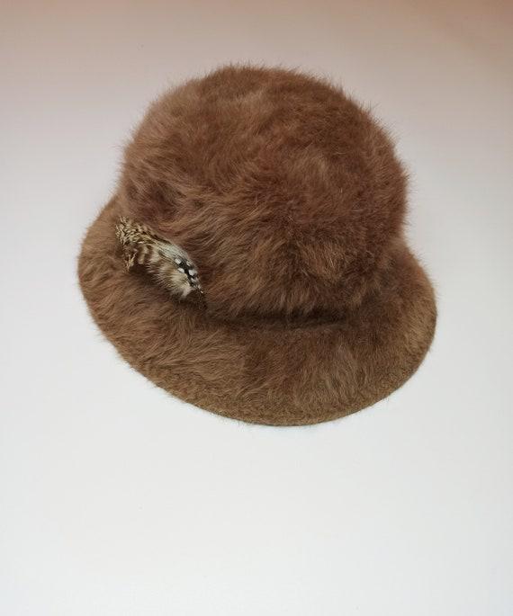 KANGOL Womens Furgora Brown Casual Bucket Hat/ mad