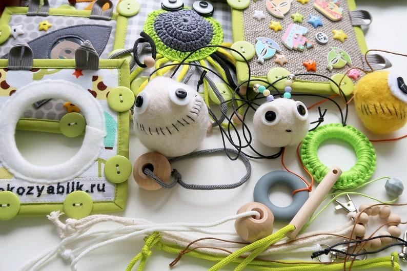 Baby sensory play Busy cube Activity mat Stroller toys | Etsy