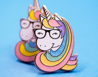 Geeky Unicorn pin - Clearout sale!