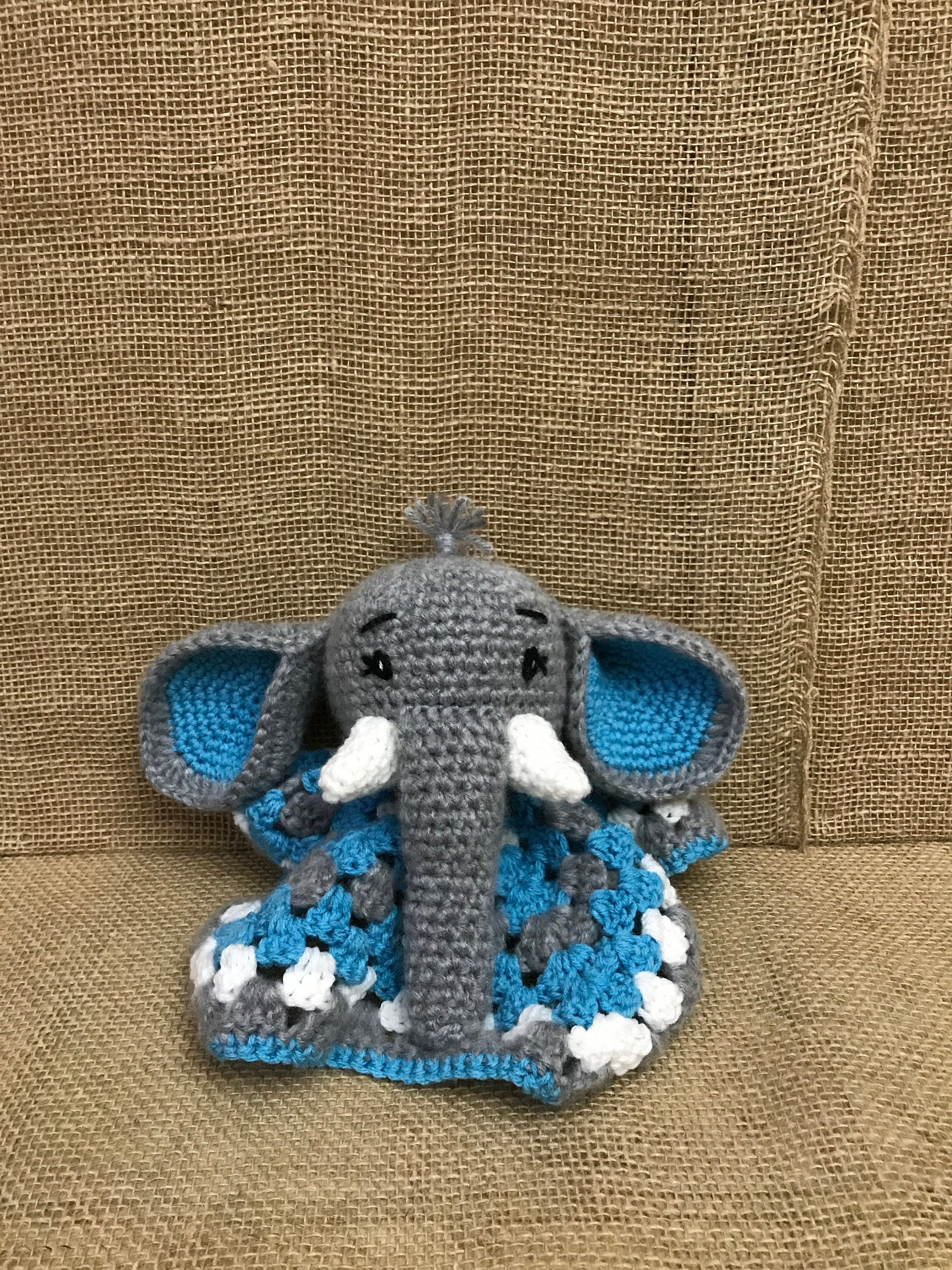 3 in 1 Safari Elephant Baby Blanket Toy Lovey Crochet Kit and ... | 3000x2250