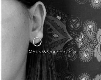 Earrings bullet end circle / homemade