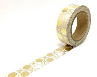 Gold Foil Geometric Circles Washi Tape