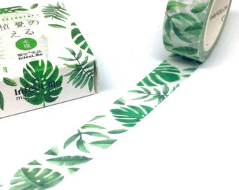 Tropical Palm Leaves Washi Tape - Banana Leaf Tree Masking