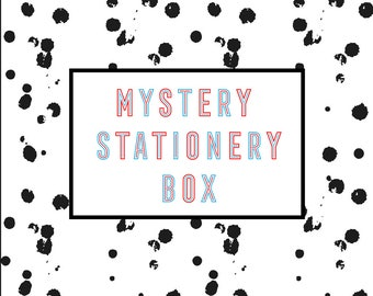Mystery Stationery Box - Washi Tape, Notebooks, Clips, Pens, Planner Stickers, Lucky Dip