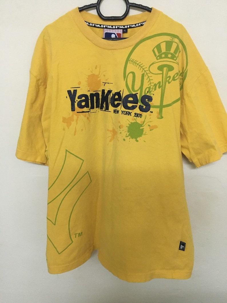 f0f149758d3cb Vintage 90's Major League Baseball Yankees New York 1901 Design Shirt Size  XL #B32