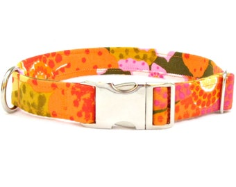"""laurel canyon DOG Collar~ 3/4"""", 1"""" or 1.5"""" wide with metal buckle"""