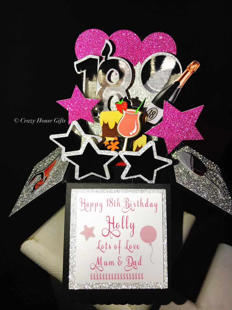 Birthday Pop Up Box Card 18th 21st