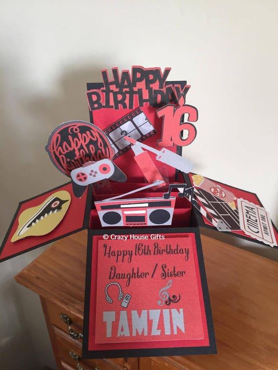 Cool Items Similar To Birthday Card Birthday Pop Up Box Card Personalised Birthday Cards Epsylily Jamesorg