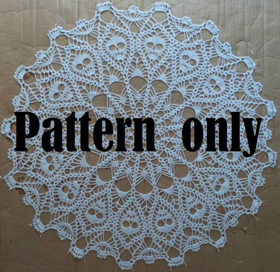 Crown Of Skulls Doily Pattern Pdf Downloadable Pattern Etsy