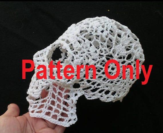 3D Skull Doily Pattern - Skull Doily Pattern - PDF Doily PATTERN only -  >>>Two piece download<<<