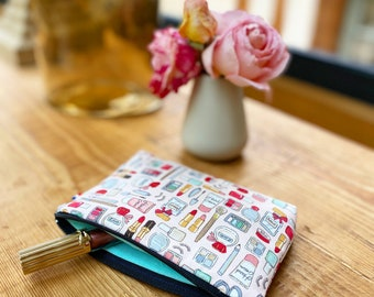 Make-up kit, Japanese fabric pouch, personalised kit, gift