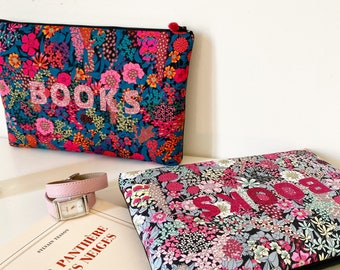 Liberty flower pouch, BOOKS pouch, book protection pouch, message pouch, customized pouch, flower pouch, colo pouch