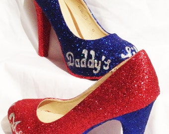 970be1666ac1ca Harley Quinn   Batman inspired   suicide squad heels       sizes 3-8 daddys  lil monster