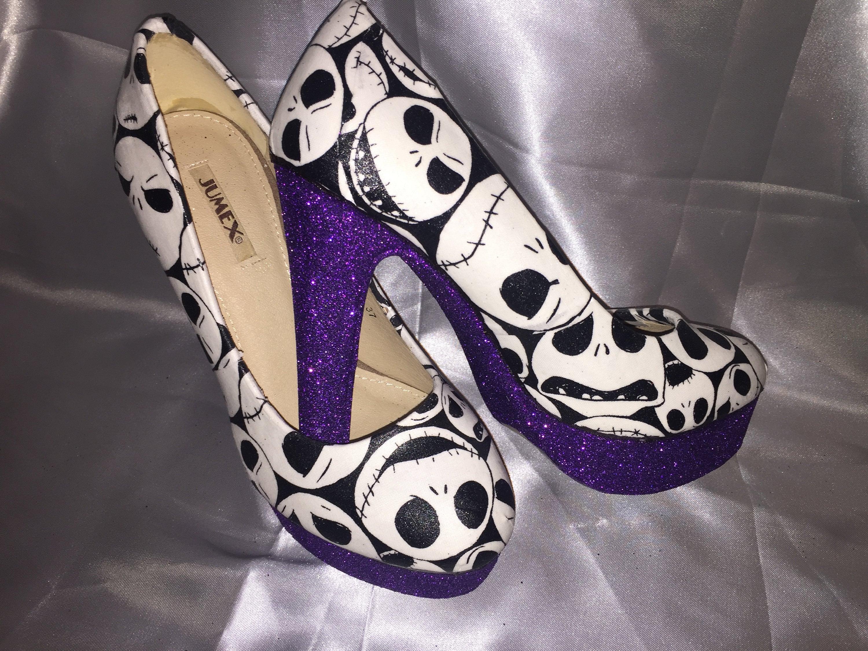 Nightmare before christmas / jack skellington shoes / heels | Etsy