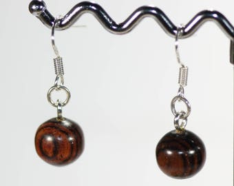 Individually hand turned wood earrings