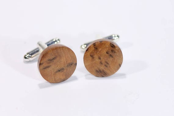 Wood Cufflinks - Hand Turned