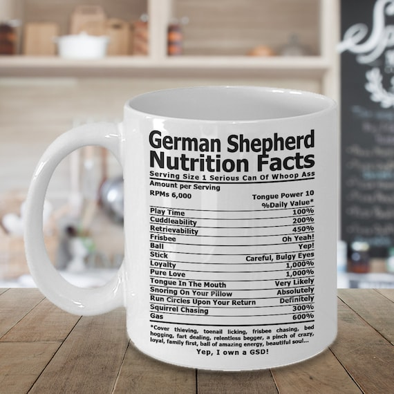German Shepherd Nutrition Coffee Mug Coffee Cup German Etsy