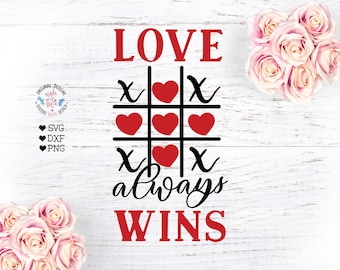 Valentines Day shirt gift for kids matching family Tic Tac Toe Love Always Wins