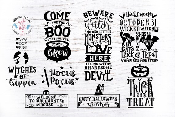 Happy Halloween Svg Bundle Halloween Svg Hocus Pocus Etsy