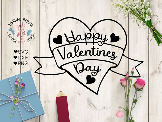 Happy Valentines Svg Happy Valentines Day Cut File In Svg Etsy