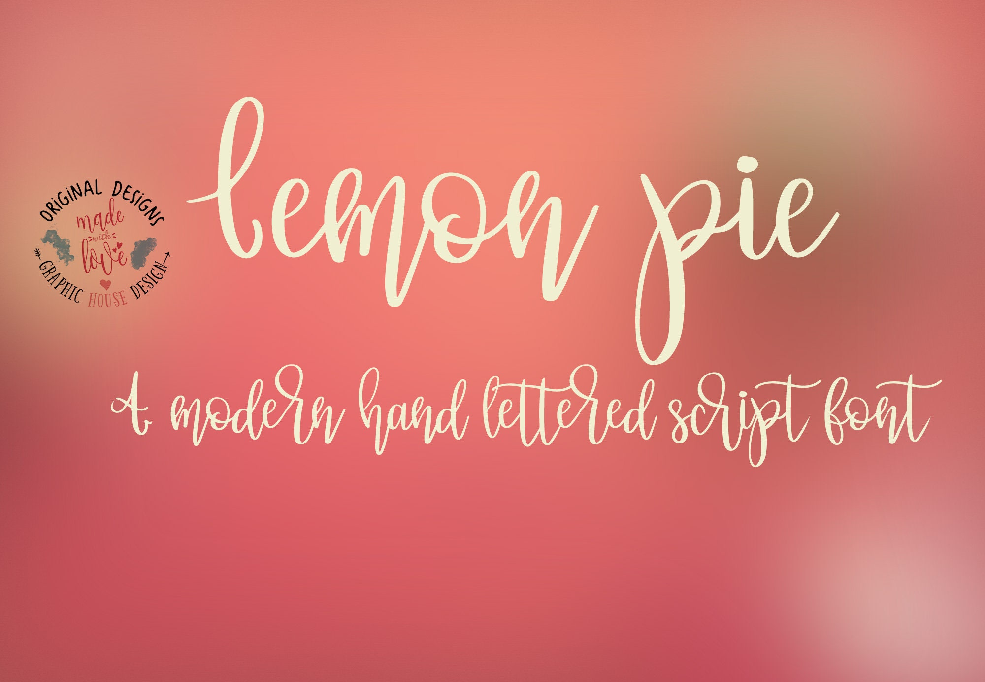 Lemon Pie font, modern hand lettered script font with a strong ...