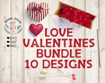 Love svg files, Love Valentines svg, Love Cut Files Bundle in SVG, DXF, PNG, Valentines svg, Love svg, Love Cut Files, Romance svg,