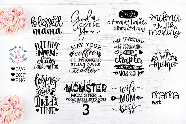 Mom svg, Mommy to Be Cut Files Bundle, New Mom svg, New Baby svg, newborn  svg, mom quotes svg, mom cut files, mom bundle, silhouette, cricut