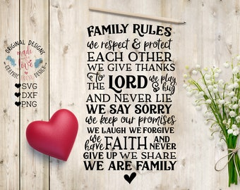 Family Rules svg, Family Rules Cut File in SVG, DXF, PNG, Family Rules Printable, Home Rules svg, House Rules svg, Family svg, Housewarming