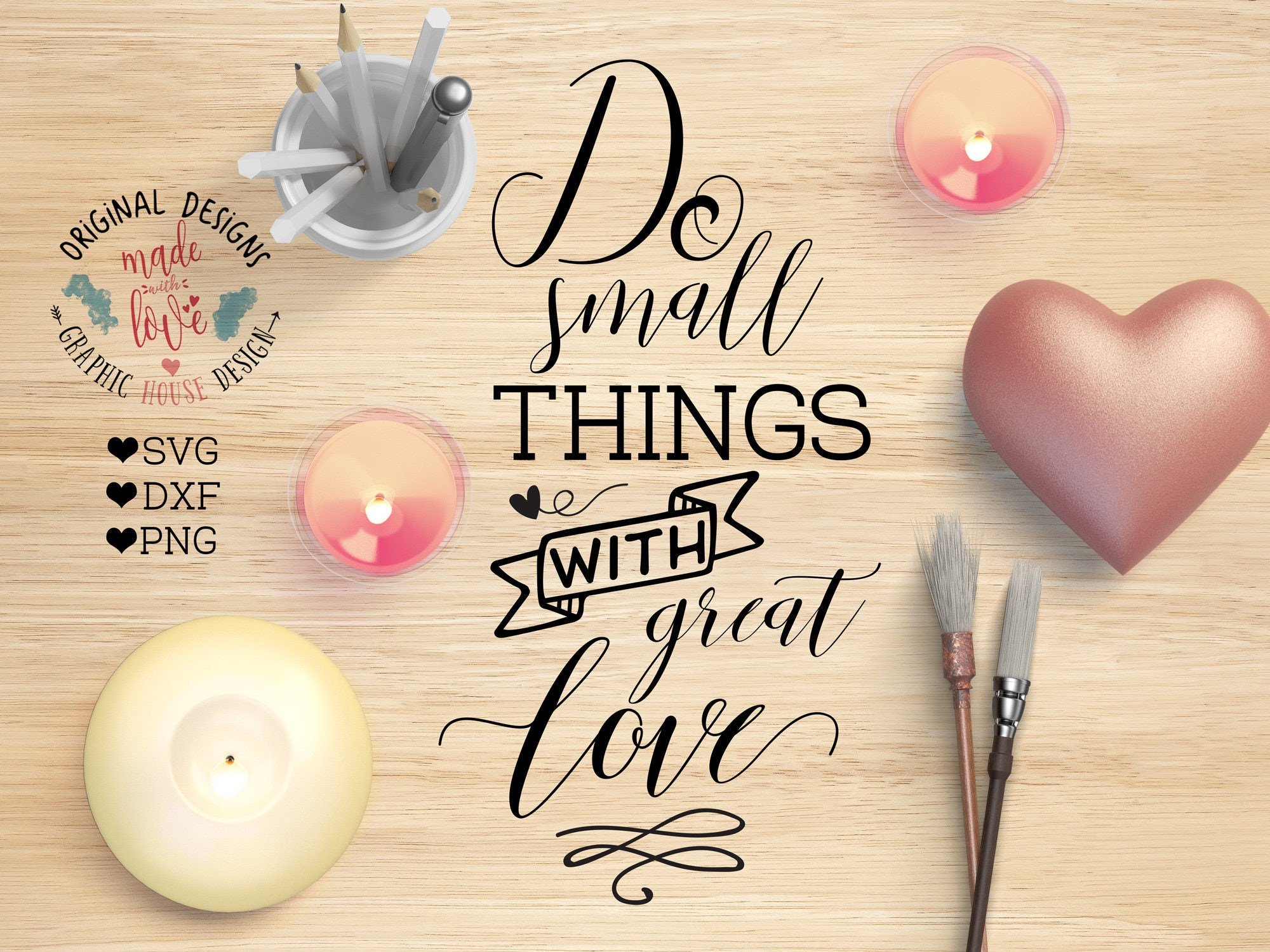 Download Do small things with great love SVG DXF PNG Mother Teresa ...