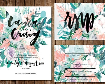 Bespoke Wedding Invitations, Custom wedding invitations