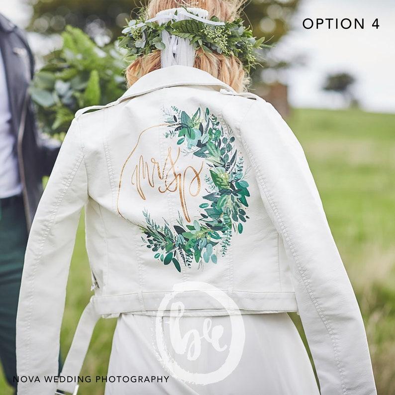 Hand painted Wedding Jacket Customisation Service Deposit. image 0