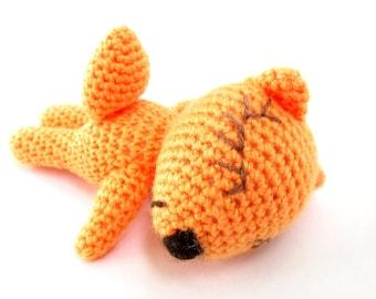 Crochet fox toy Orange doll Animal Little stuffed fox Amigurumi Newborn gift Baby shower Nursery decor Kids Woodland Fox lover gift Plush