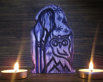 Cailleach statue Wheel of the year Winter goddess Сrone