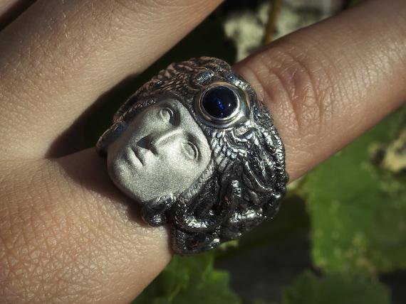 Medusa Gorgon Silver Ring