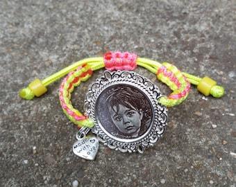 Bracelet En Macrame Avec Nœud Coulissant Etsy