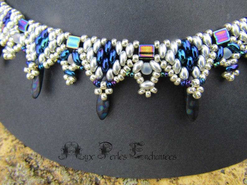 frozen necklace kit instructions et des Mat\u00e9riaux square Beaded beads tutorial pattern Beading kit beading pattern beading tutorial kit