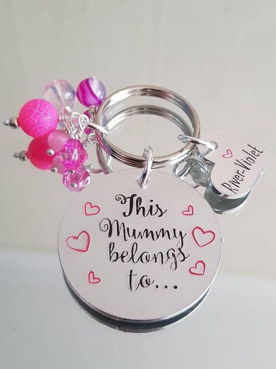 GRAN Granny Nan Mum Family Keyring Keychain Key Fob Bespoke Stainless Steel Gift