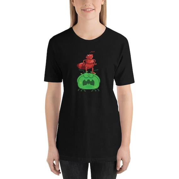 Spiders Men's Tee Creepy Crawlers Bugs TS738 Ladybird Insects All Over