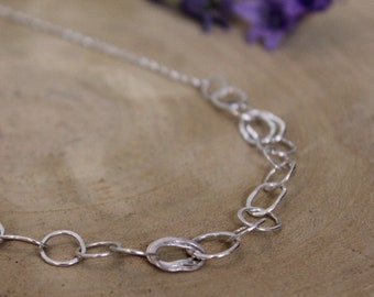 Silver Choker Chain Necklace