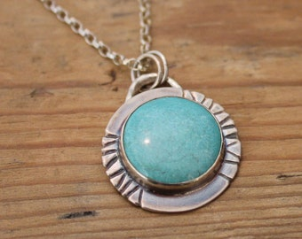 Round Turquoise Aztec Necklace
