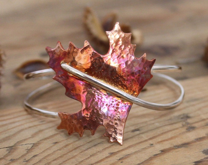 Featured listing image: Maple Leaf Bangle