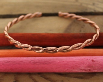 Copper Twist Bangle