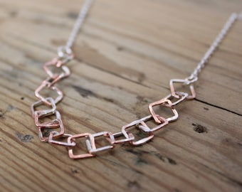 Copper and Silver Splatter Choker
