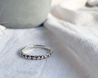 Diamond Texture Stacking Ring