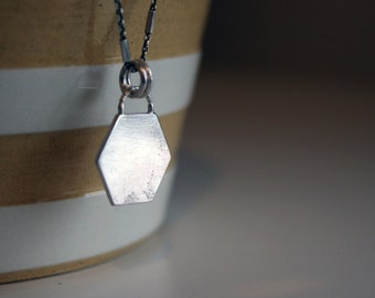 Hexagonal Disc Necklace