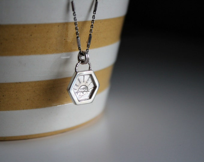 Hexagonal Frame Necklace